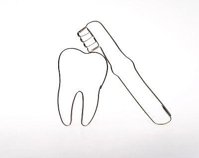 2er Set Zahn + Zahnbürste Edelstahl Ausstecher Ausstechform Keksausstecher