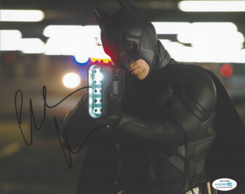 CHRISTIAN BALE SIGNED 'THE DARK KNIGHT RISES' 8x10 PHOTO BATMAN ACTOR ACOA