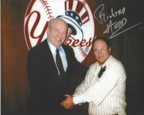 Seinfeld NYY GM  Richard Herd dec.autographed 8x10 photo with George Constanza