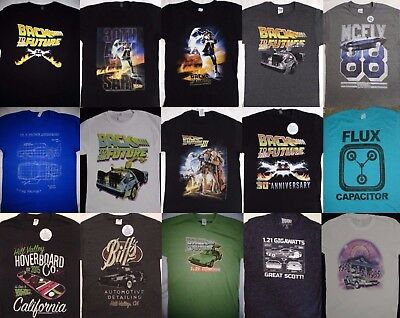 Back To The Future Movie Delorean Car Marty Mcfly T Shirt