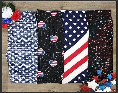 Plus Size Patriotic Leggings American Flag Red White - Plus Size Red Leggings