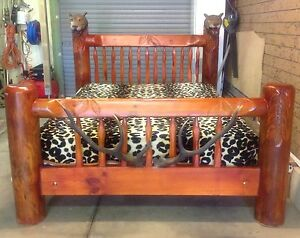 SOLID TIMBER HAND CARVED QUEEN BED ,MATTRESS AND CHAIR Paralowie Salisbury Area Preview