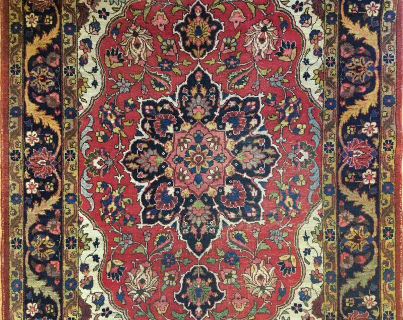 Fantastic Floral - 1910s Antique Oriental Rug - Handmade Carpet - 5 X 7 Ft.
