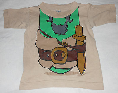 Pirates Bands Misfits Movie Toddler Boys Tan Green T-Shirt No Head Costume 2T - Falling Head Costume