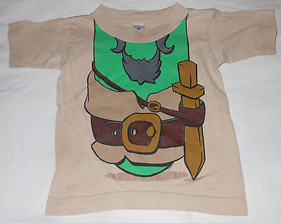 Pirates Bands Misfits Movie Toddler Boys Tan Green T-Shirt No Head Costume - Falling Head Costume