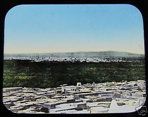 HAND-COLOURED-Glass-Magic-lantern-slide-PROBABLY-DAMASCUS-C1890-SYRIA-L66