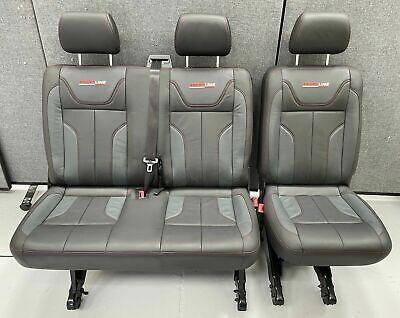 Genuine VW T5.1 Transporter Sportline Leather Rear Quick Release Seats 2+1 T5 T6