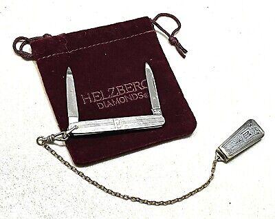 Vintage Antique Binder Bro Schrade Cut Co Sterling Silver Pocket Folding Knife