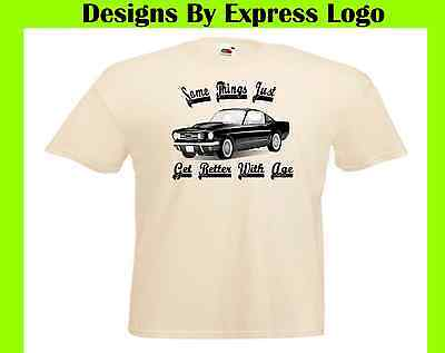 Ford Mustang American Muscle Car Things Get Better With Age Printed T
