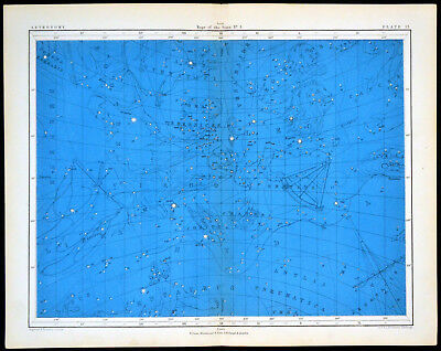 MAPS OF THE STARS #3 1856 Alex Johnston ANTIQUE CHART