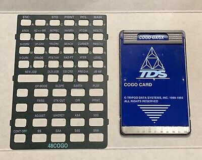 Tds Cogo Survey Card For Hp 48gx Calculator