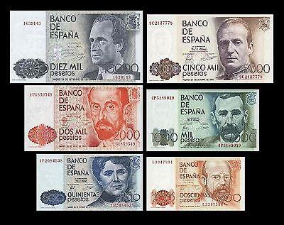 *** 200,500,1000,2000,5000,10000 Peseten Replik 1979-1985 Alte Währung  ***