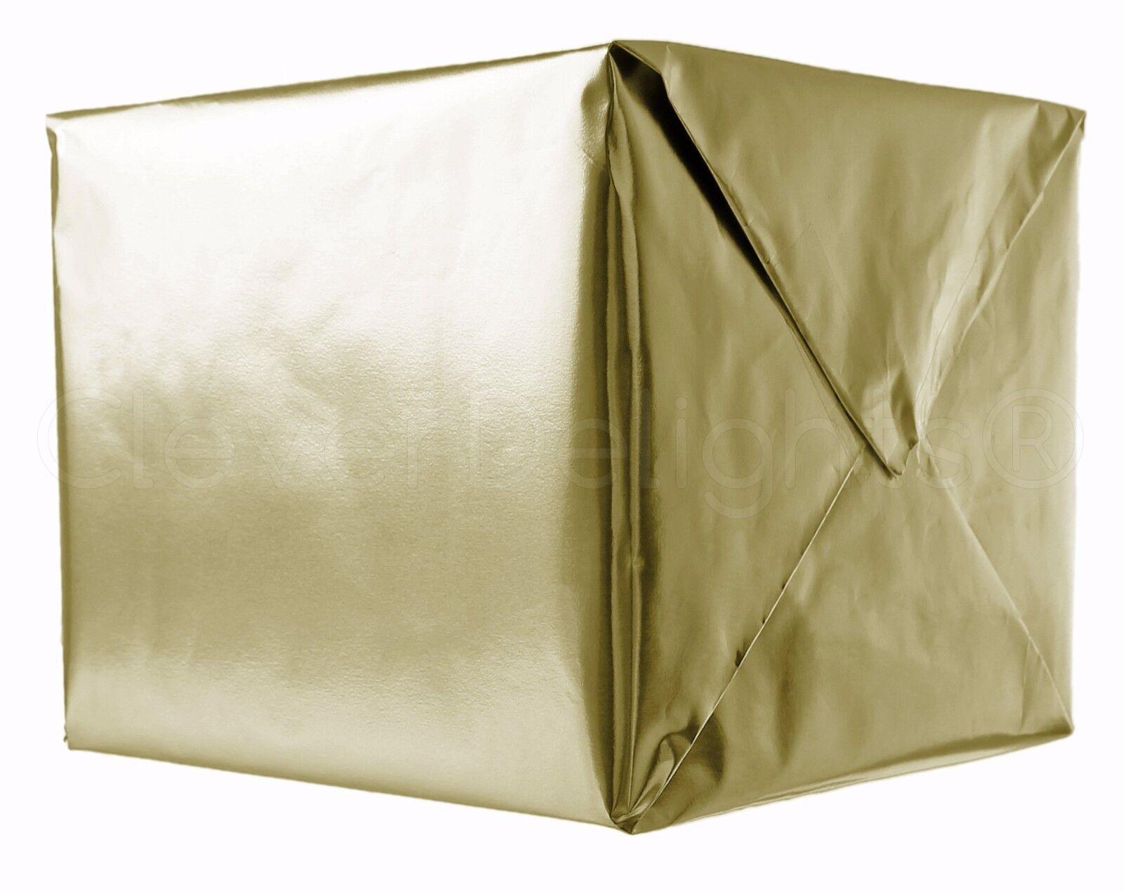 """Metallic Gold Wrapping Paper - 30"""" x 300"""" JUMBO Roll - 62.5"""