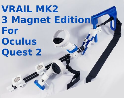 VRAIL MK2 Magnetic Gun Stock for Oculus Quest 2 - 3 Magnet Edition