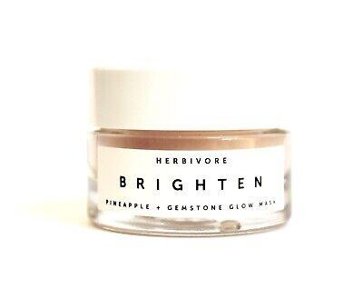HERBIVORE Brighten Pineapple + Gemstone GLOW MASK .5 Oz Glass Jar NEW FREE SHIP