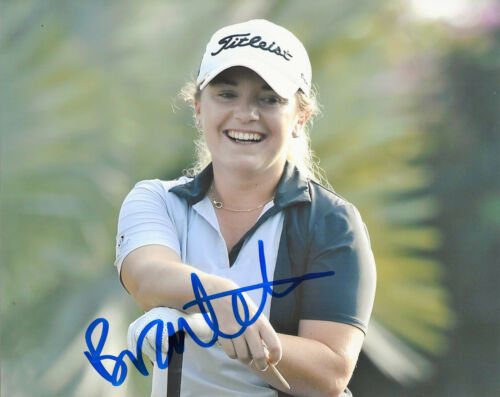 LPGA GOLFER BRONTE LAW SIGNED AUTHENTIC 8x10 PHOTO B w/COA PROOF WOMEN'S GOLF