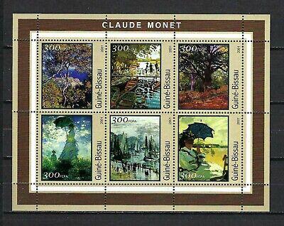 Guinea-Bissau 2001 Mi#1612-17  Art-Paintings by Monet  MNH M/S $9.20
