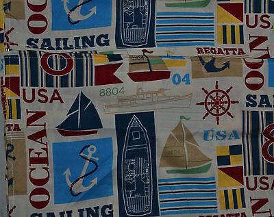 Indoor/Outdoor Sailboat Cloth Tablecloth~Beach~Ivory~60/84~Zipper~Fabric~NEW](Beach Table Cloth)