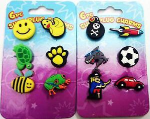 6 Piece Crocs Shoe Plug Charms Slippers Accessories Button Wristbands