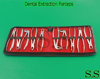Dental Instruments Set Of Extraction Forceps English Patern Pkt Of 10 Pc Dn-435