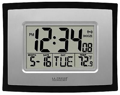 WT-8002U La Crosse Technology Digital Wall Clock with IN Temperature & Calendar