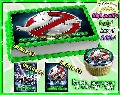 Ghostbusters Edible Cake Toppers picture sugar paper birthday 2016 cupcakes