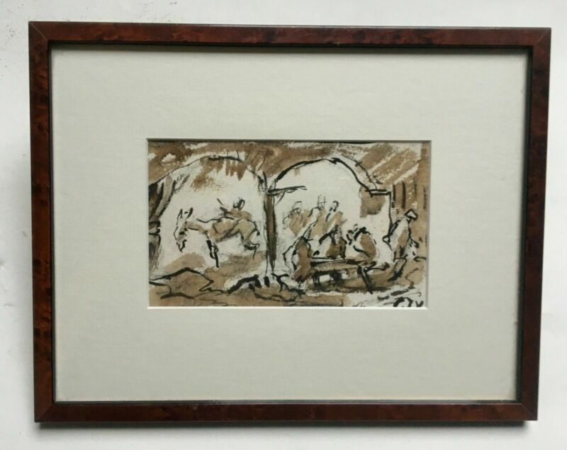 Orientalist wash signed, 20th century, Framed and under glass