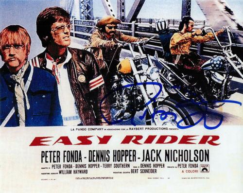 Peter Fonda Signed EASY RIDER 8x10 Lobby Card Photo EXACT Proof COA C