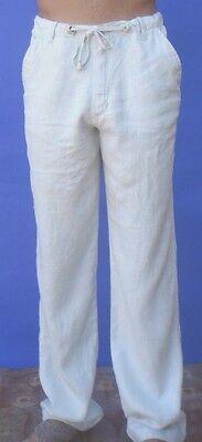 Men's Beach Linen Pants - Destination Wedding Draw String - Light Khaki or Tan