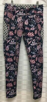 Anthropologie Pure + Good Sz S Floral Paisley Long EUC Stretch Pants  AB