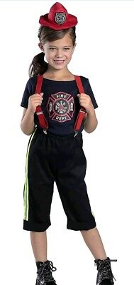 Princess Paradise Firefighter Bridget DRESS UP Costume Child Medium NEW