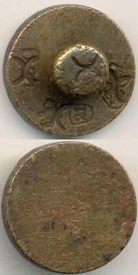 Original uraltes kleines Gewicht mit mehreren Punzen, 9 Gr.