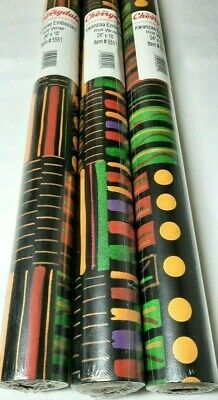 3 Kwanzaa African Mid Mod Black Americana Wrapping Paper Rolls Lot Cherrydale