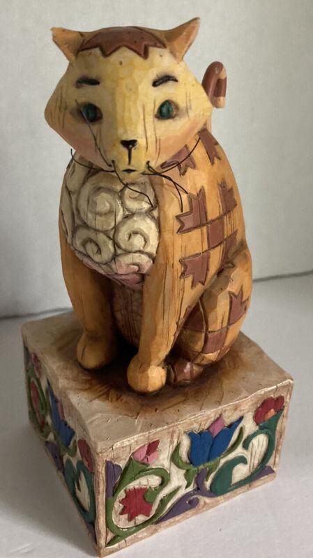 "JIM SHORE HEARTWOOD CREEK ""JASPER"" CAT FIGURINE (2003) #114424 *See Note"