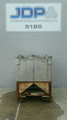 Used Stainless Steel Tote 327 Gallon Ibc Tank Listed Low To Move Fast Sku 34