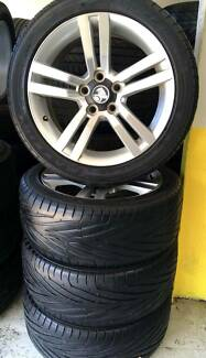 "USED 18"" WHEELS & 245/45ZR18 TYRES FOR HOLDEN VE SS COMMODORE"