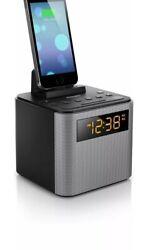Philips AJT3300/37 Bluetooth Dual Alarm Clock Radio Android Speaker Dock