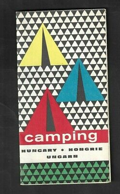 1950's Hungary Camping Map and Guide