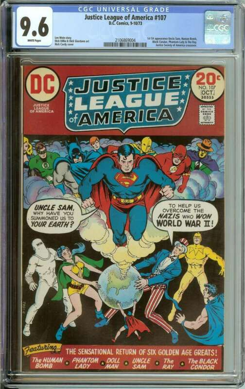 JUSTICE LEAGUE OF AMERICA #107 CGC 9.6 WHITE PAGES