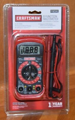New Craftsman Digital Multimeter With 8 Functions 20 Ranges 34 82141