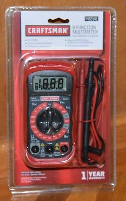 New Craftsman Digital Multimeter With 8 Functions 20 Ranges 34 82141