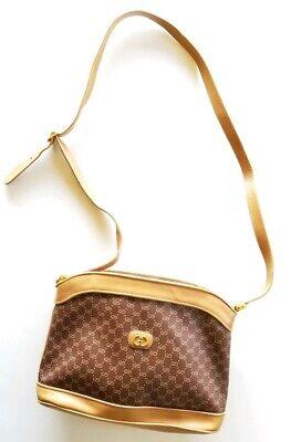 """Vintage 1970's Gucci """"GG Supreme"""" Saddle Bag 001/256/1212 $1250"""
