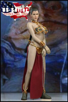 ❶USA IN STOCK❶ 1/6 Princess Leia Organa Star Wars Head Sculpt Slave Outfits Set - Slave Princess Leia