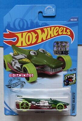 Hot Wheels 2020 Calle Beasts Croc Barra # 160/250 Verde Precinto de...