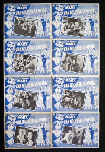A NIGHT AT THE OPERA The Marx Brothers MEXICAN LOBBY CARD SET NEVER USED