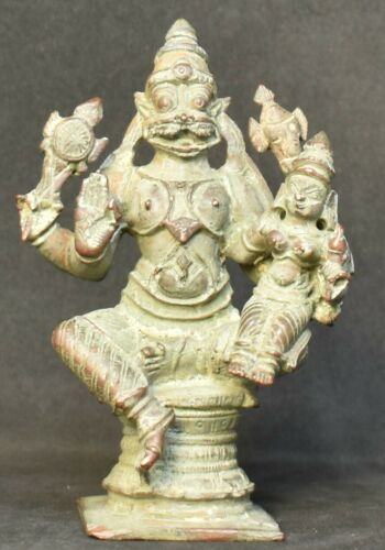 LakshmiNarasimha. Hindu God and consort. 3.5 inches.