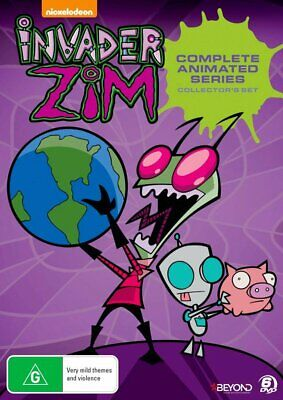 INVADER ZIM Season 1 + 2 (Region Free) DVD The Complete Series Collection Box