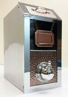 Coffee Bean Dispenser Stainless steel/Chrome/Copper Café Bistro Display Bin
