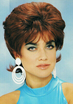 Pixie Flip Wig Red Franco New Fifties Bobby Socker Ska Retro Mod Rude Boy