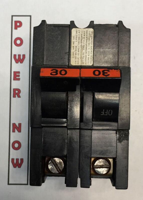 Federal Pacific FPE Stab-Lok Breaker 2 Pole 30 Amp 240V Thick - Ships Today